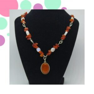 carnelian and moonstone necklace